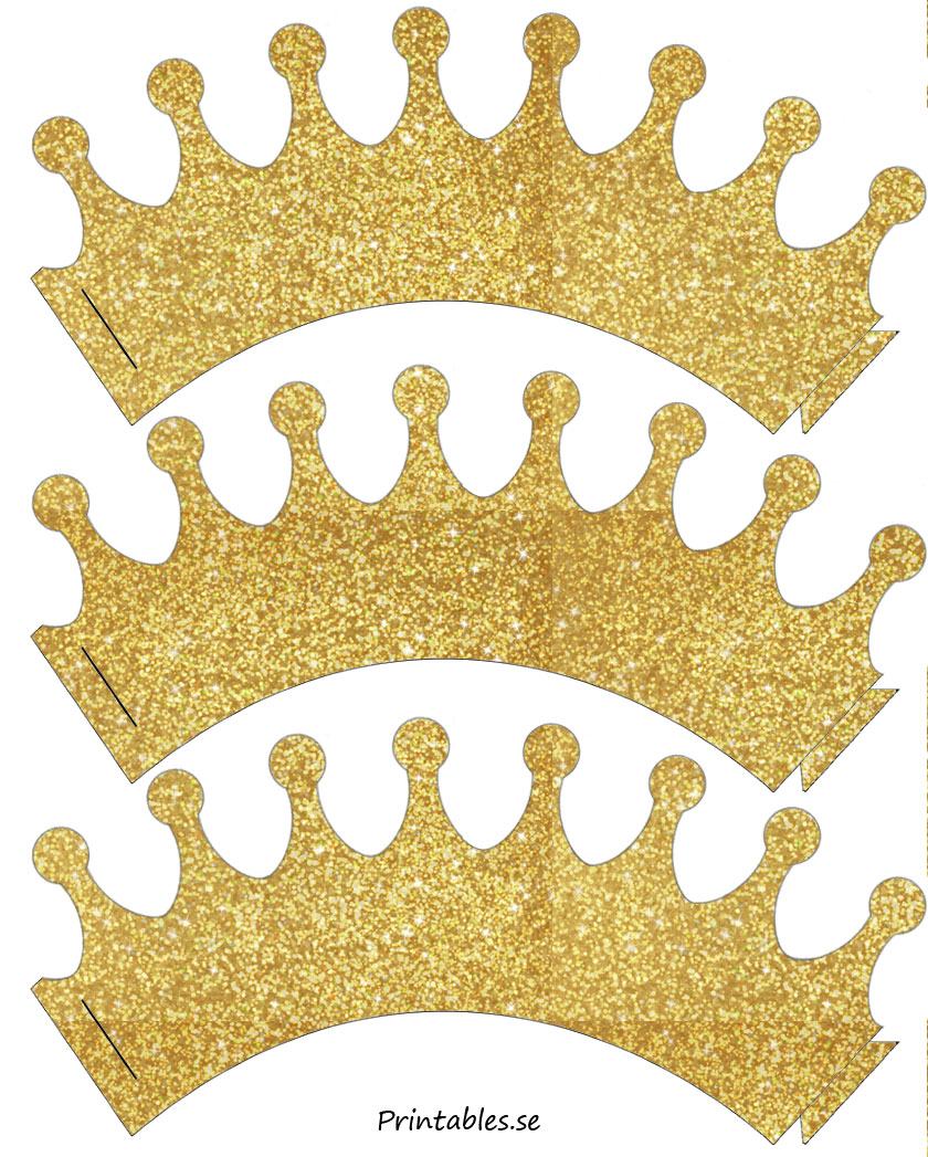 graphic relating to Printable Crowns named Cupcake wrapper glitter crowns (no cost printable)