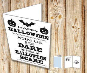 Kort: Join us if you dare for a Halloween scare  | Gratis printables att skriva ut till Halloween