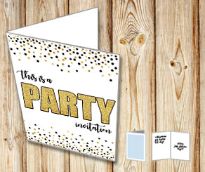 This is a party invitation | Gratis kort att skriva ut själv