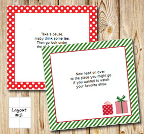 Christmas treasure hunt (part 2)  | Free printable for Christmas