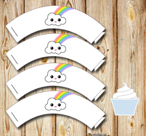 Cupcake wrapper rainbow 2  | Free printable cupcake wrappers and toppers