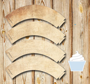 Cupcakewrappers in old vintage paper   | Free printable cupcake wrappers and toppers