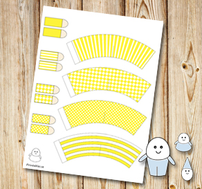 Egg people: Yellow pants  | Free printable for Easter