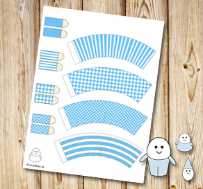Egg people: Light blue pants  | Free printable for Easter