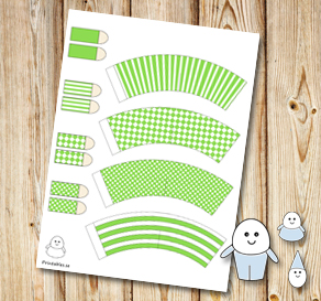 Egg people: Light green pants  | Free printable for Easter