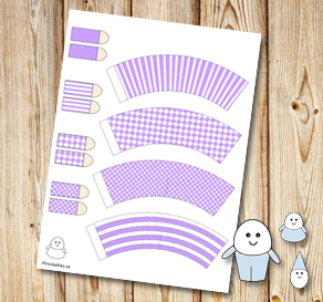 Egg people: Light purple pants  | Free printable for Easter