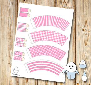 Egg people: Light pink pants  | Free printable for Easter