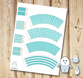 Egg people: Turquoise pants  | Free printable for Easter
