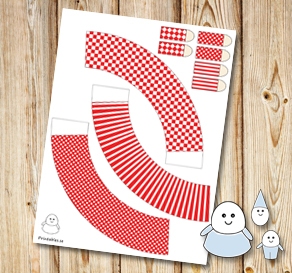 Egg people: Red skirts  | Free printable for Easter