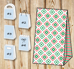 Gift bags with christmas theme 10  | Free printable for Christmas