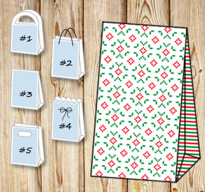 Gift bags with christmas theme 11  | Free printable for Christmas
