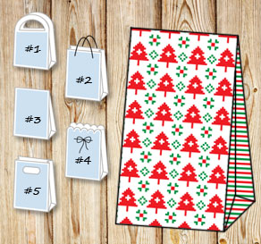 Gift bags with christmas theme 12  | Free printable for Christmas