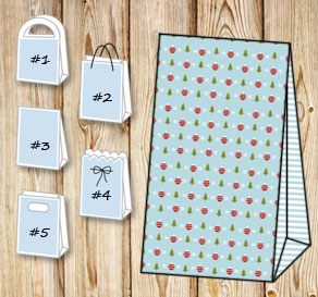 Gift bags with christmas theme 3  | Free printable for Christmas