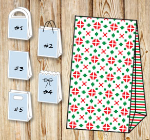 Gift bags with christmas theme 7  | Free printable for Christmas