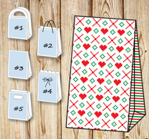 Gift bags with christmas theme 8  | Free printable for Christmas