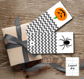 Grey gift tags for Halloween  | Free printable for Halloween