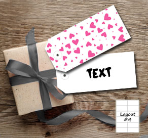 Gift tags with pink hearts  | Free printable for Valentines day