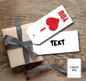 Gift tags with red graphic hearts  | Free printable for Valentines day