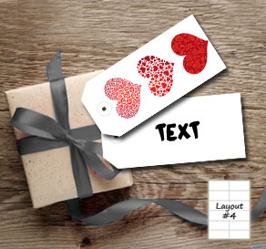 White gift tags with three hearts  | Free printable for Valentines day