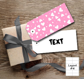 Light pink gift tags with white hearts  | Free printable for Valentines day