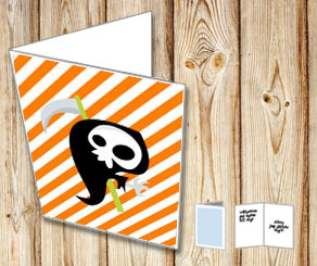Halloween card with the reaper  | Free printable for Halloween