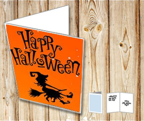 Halloween card: Witch  | Free printable for Halloween
