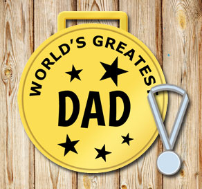 Gold medals: Worlds greatest dad  | Free printable for Fathers day
