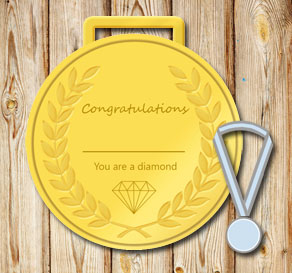 Gold medals: You are a diamond  | Free printable