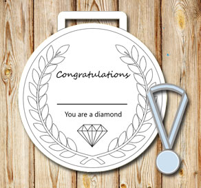 White medals: You are a diamond  | Free printable
