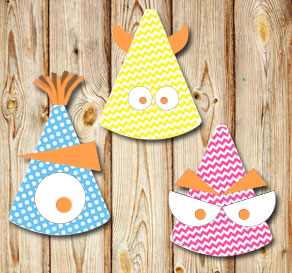 Monsterdelar (orange)  | Gratis printables att skriva ut till Halloween