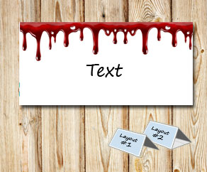Placement cards with dripping blood  | Free printable for Halloween