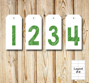 Gift labels with 1 2 3 4 in green for an advent cal...  | Free printable for Christmas