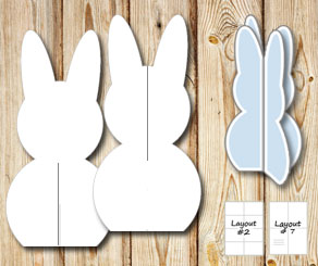 Standing easter bunnys 2 (template)  | Free printable for Easter