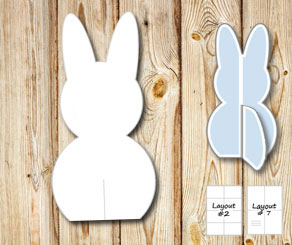 Standing easter bunnys (template)  | Free printable for Easter