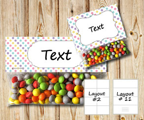 Bag toppers with dots  | Free printable bag topper