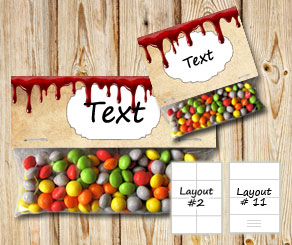 Bag toppers in bloody old vintage paper and a box f...  | Free printable for Halloween