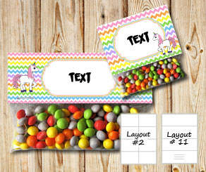 Chevron pattern bag toppers with light rainbow colo...  | Free printable bag topper