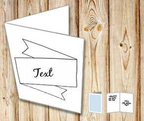 Card with editable text banner  | Free printable card