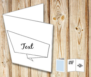 Card with editable text banner 2  | Free printable card