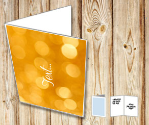 Card with golden lights  | Free printable for New Years Eve