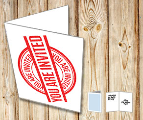 Invitation card: You are invited (red)  | Free printable card