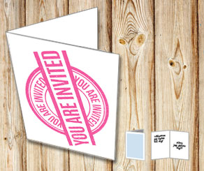 Invitation card: You are invited (pink)  | Free printable card