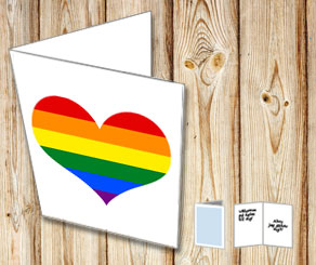 Card with a pride heart  | Free printable card
