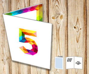 White card with rainbow numbers  | Free printable card