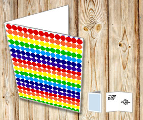 Dotted card with rainbow colors  | Free printable card