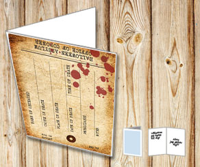 Halloween invitation: Toe tag from the coroner  | Free printable for Halloween