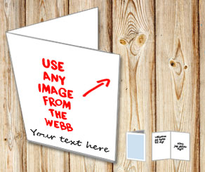 Card with your own image and text