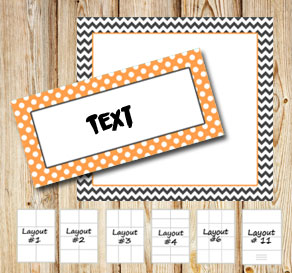 Grey and orange patterned labels for Halloween  | Free printable labels