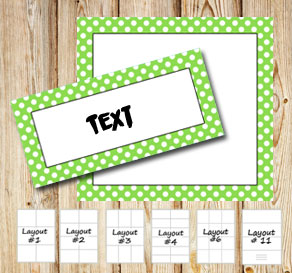 Labels with a white dotted light green frame  | Free printable labels