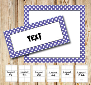 Labels with a white dotted purple frame  | Free printable labels